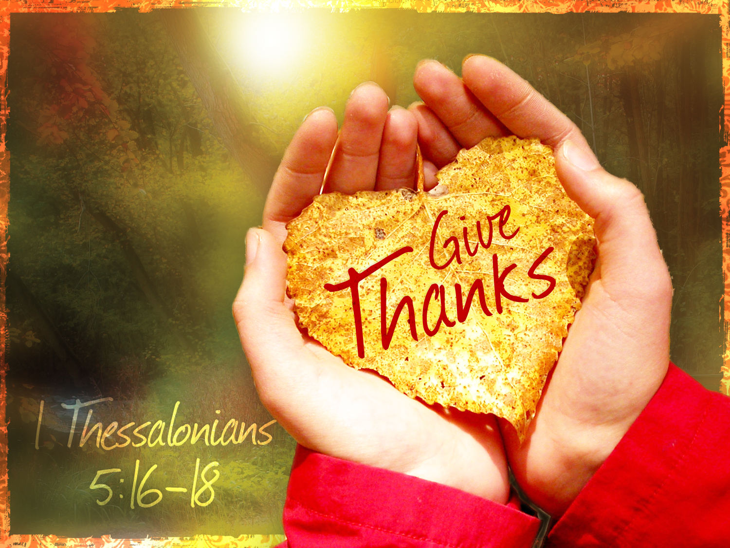 Give Thanks to The Lord And